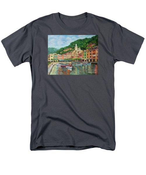 Reflections Of Portofino T-Shirt by Charlotte Blanchard