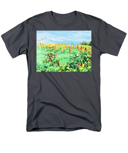 Roosthole Vineyard Men's T-Shirt  (Regular Fit) by Plum Ovelgonne