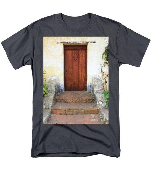 Sacred Heart Door T-Shirt by Carol Groenen