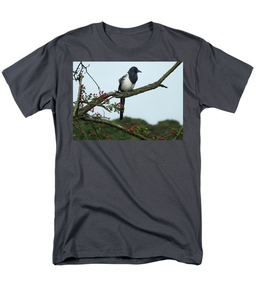 September Magpie Men's T-Shirt  (Regular Fit) by Philip Openshaw