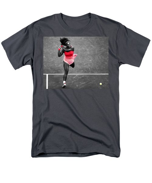 Serena Williams Strong Return Men's T-Shirt  (Regular Fit) by Brian Reaves
