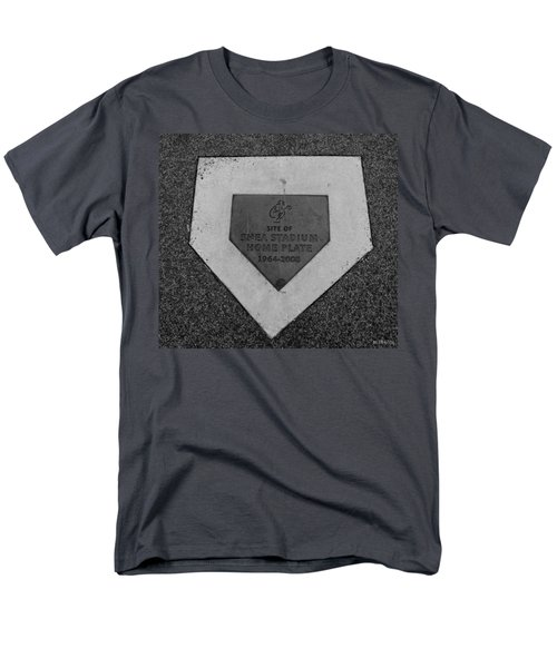 SHEA STADIUM HOME PLATE in BLACK AND WHITE T-Shirt by ROB HANS