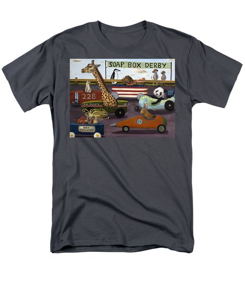 Soap Box Derby Men's T-Shirt  (Regular Fit) by Leah Saulnier The Painting Maniac