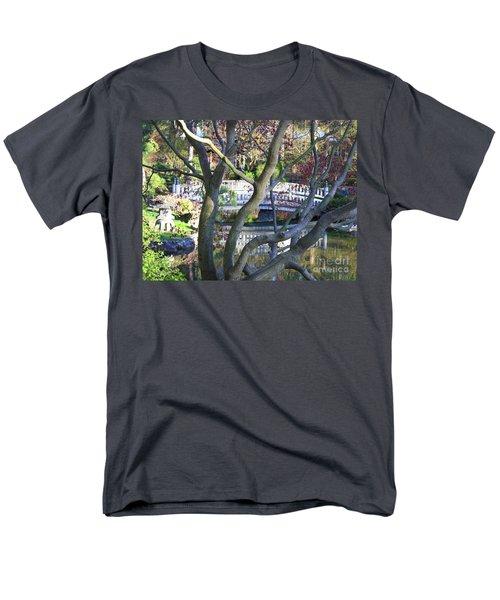 Springtime Bridge through Japanese Maple Tree T-Shirt by Carol Groenen