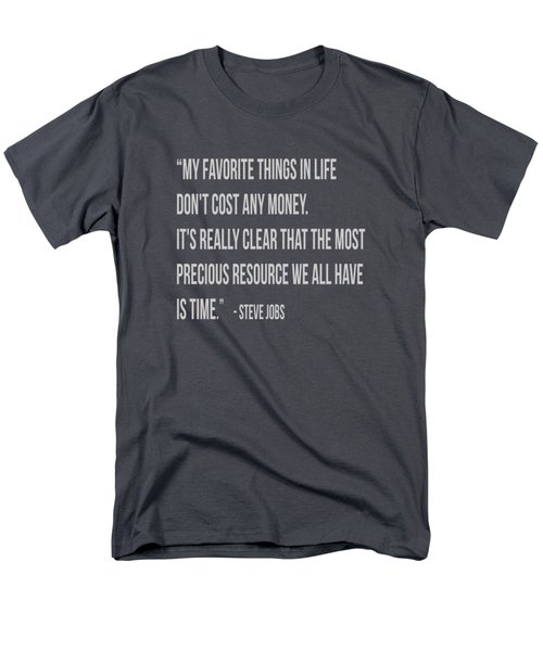 Steve Jobs Time Quote Tee Men's T-Shirt  (Regular Fit) by Edward Fielding