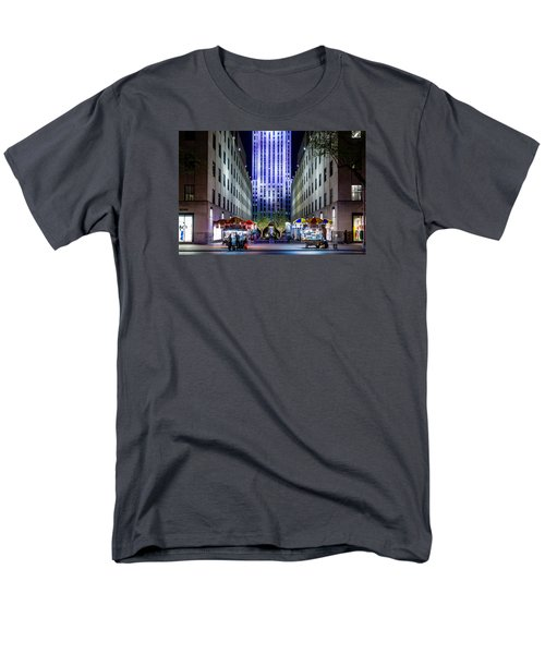 Men's T-Shirt  (Regular Fit) featuring the photograph Rockefeller Center by M G Whittingham