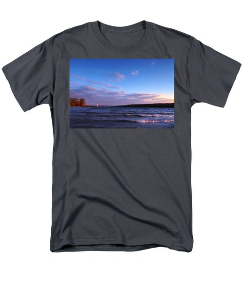 Sunset on Cayuga Lake Ithaca T-Shirt by Paul Ge