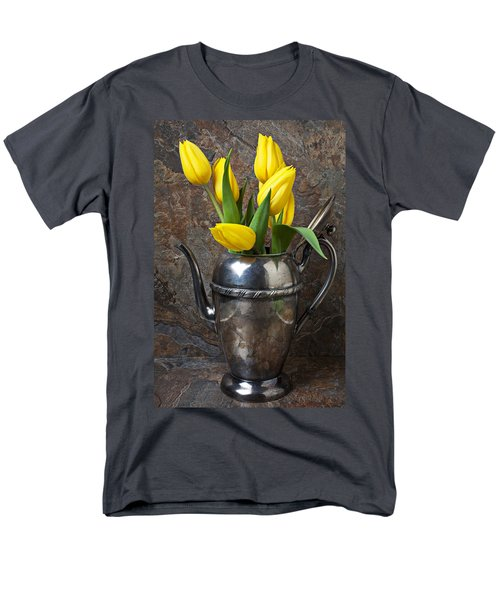 Tea Pot and Tulips T-Shirt by Garry Gay