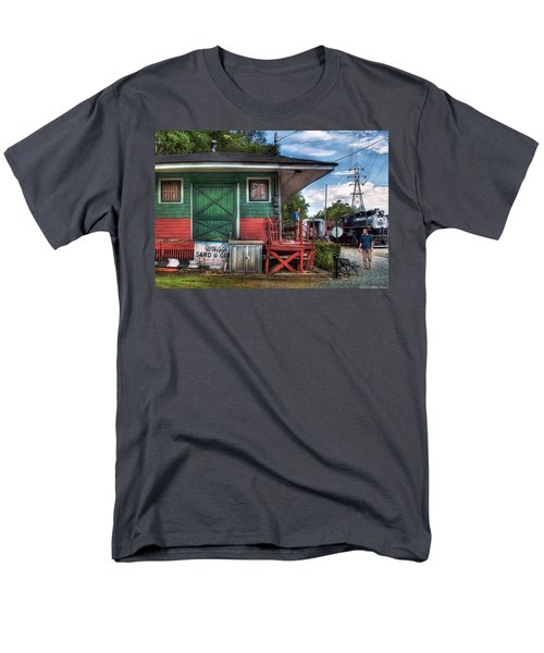 Train - Yard - The Train Station T-Shirt by Mike Savad