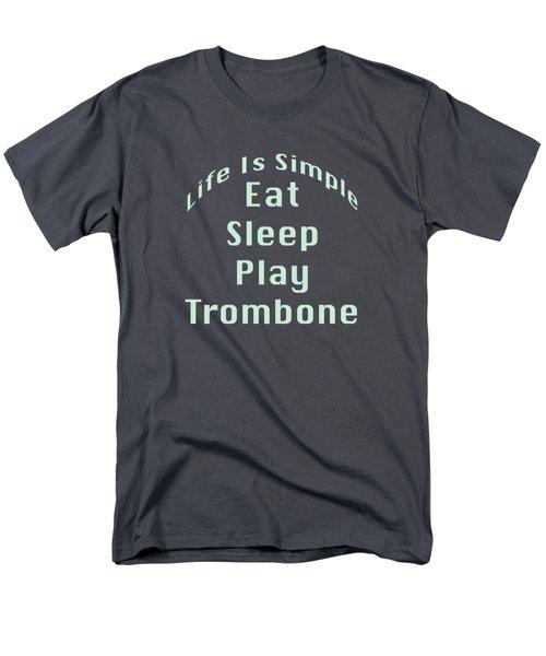 Trombone Eat Sleep Play Trombone 5518.02 Men's T-Shirt  (Regular Fit) by M K  Miller