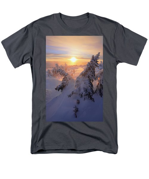 View Of Snow-covered Trees At Mont T-Shirt by Yves Marcoux