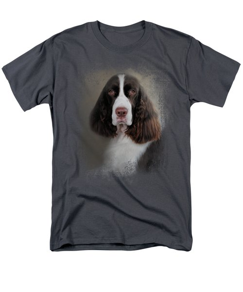 Waiting Patiently - English Springer Spaniel Men's T-Shirt  (Regular Fit) by Jai Johnson