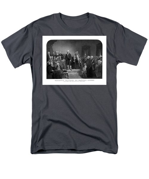 Washington Delivering His Inaugural Address T-Shirt by War Is Hell Store