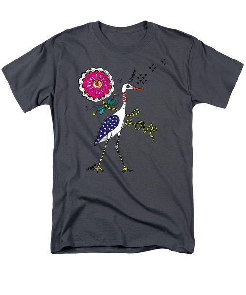 Weak Coffee Lovebird Men's T-Shirt  (Regular Fit) by Tara Griffin