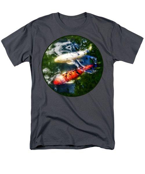 White And Orange Koi Men's T-Shirt  (Regular Fit) by Susan Savad