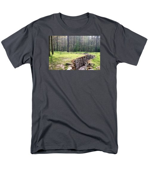 Men's T-Shirt  (Regular Fit) featuring the photograph World War One Trenches by Travel Pics