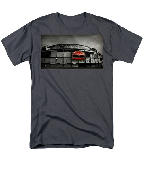 Wrigley Field Men's T-Shirt  (Regular Fit) by Stephen Stookey