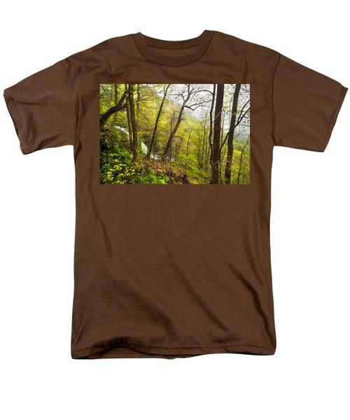 Misty Mountain T-Shirt by Debra and Dave Vanderlaan