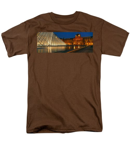 Pyramid At A Museum, Louvre Pyramid Men's T-Shirt  (Regular Fit) by Panoramic Images