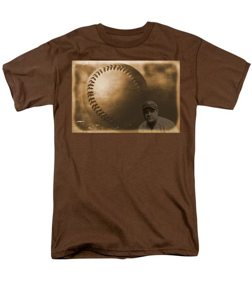 A Tribute To Babe Ruth And Baseball Men's T-Shirt  (Regular Fit) by Dan Sproul