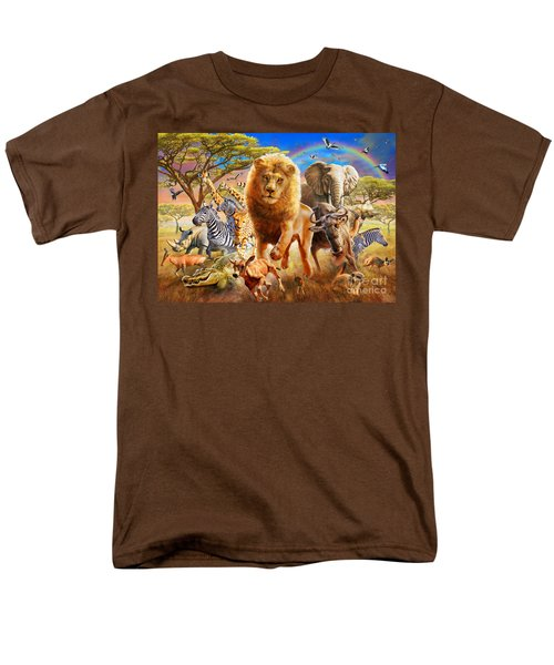African Stampede Men's T-Shirt  (Regular Fit) by Adrian Chesterman