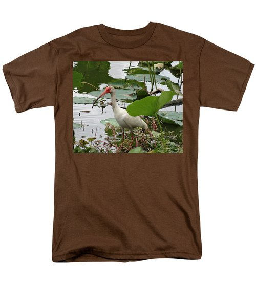 American White Ibis In Brazos Bend Men's T-Shirt  (Regular Fit) by Dan Sproul