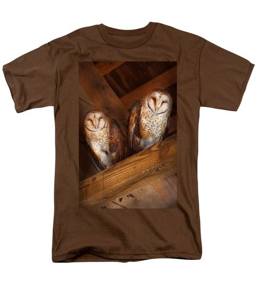 Animal - Bird - A couple of barn owls T-Shirt by Mike Savad