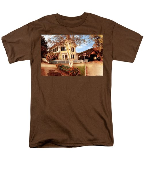 Architecture - Woodstock VT - Where I live T-Shirt by Mike Savad