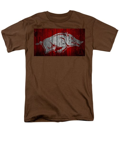 Arkansas Razorbacks Barn Door Men's T-Shirt  (Regular Fit) by Dan Sproul