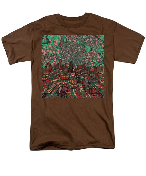 Austin Texas Vintage Panorama 3 Men's T-Shirt  (Regular Fit) by Bekim Art