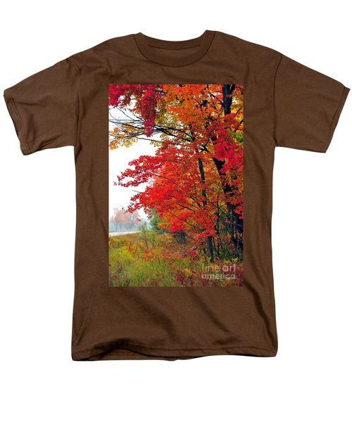 Autumn Along a Country Road T-Shirt by Terri Gostola