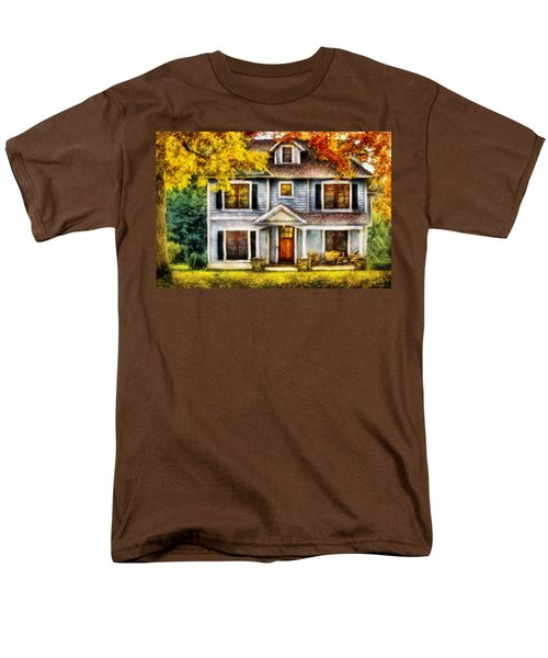 Autumn - House - Cottage  T-Shirt by Mike Savad