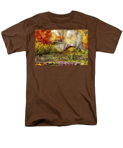 Autumn - House - On the way to grandma's House T-Shirt by Mike Savad