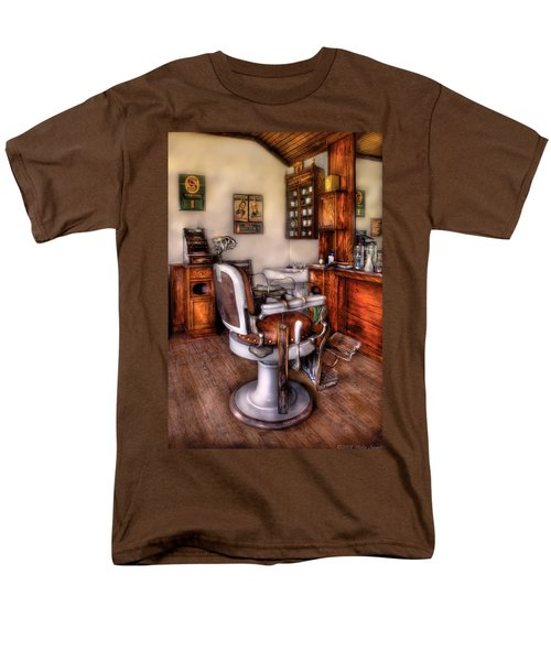 Barber - The Barber Chair T-Shirt by Mike Savad