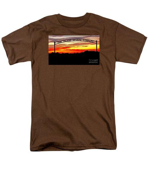 Beautiful Sunset And Emmett Sport Comples Men's T-Shirt  (Regular Fit) by Robert Bales