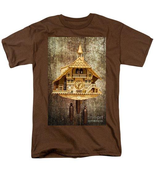 Black Forest Figurine Clock Men's T-Shirt  (Regular Fit) by Heiko Koehrer-Wagner