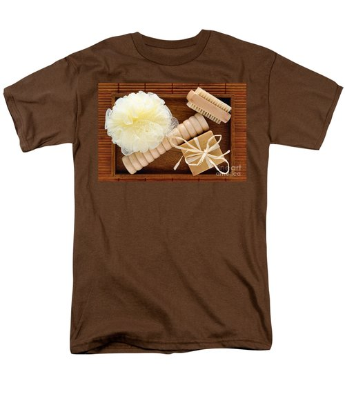 Body Care Accessories in Wood Tray T-Shirt by Olivier Le Queinec
