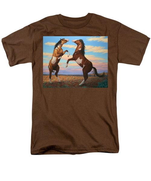 Boxing Horses T-Shirt by James W Johnson