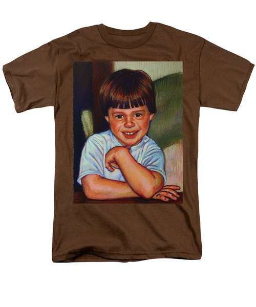 Boy in Blue Shirt T-Shirt by Kenneth Cobb
