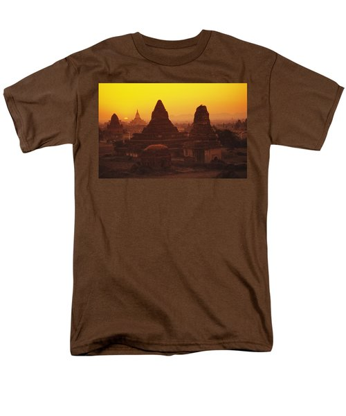 Burma Myanmar, Bagan, Temples At Sunset T-Shirt by Richard Maschmeyer