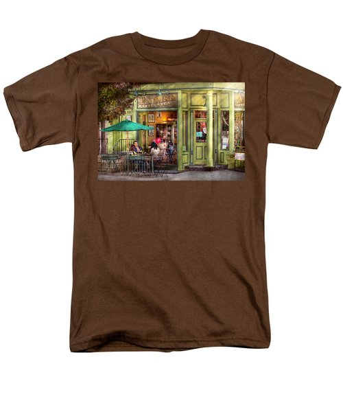 Cafe - Hoboken NJ - Empire Coffee and Tea T-Shirt by Mike Savad