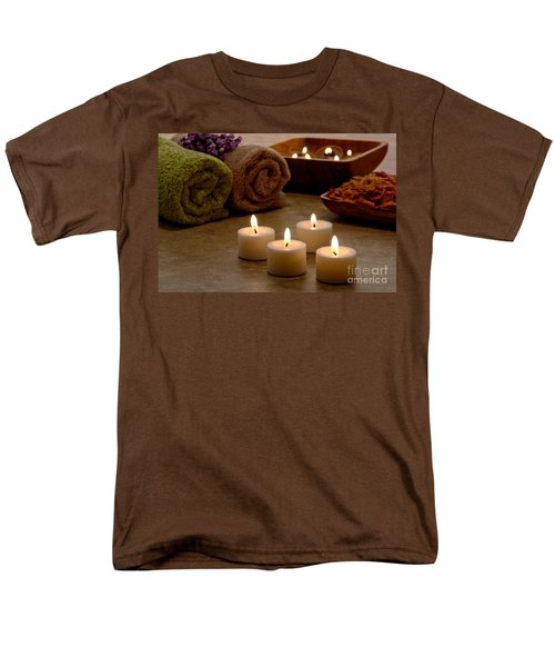 Candles in a Spa T-Shirt by Olivier Le Queinec