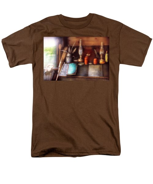 Carpenter - In a carpenter's workshop  T-Shirt by Mike Savad