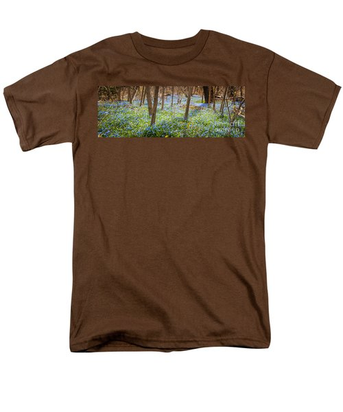 Carpet of blue flowers in spring forest T-Shirt by Elena Elisseeva