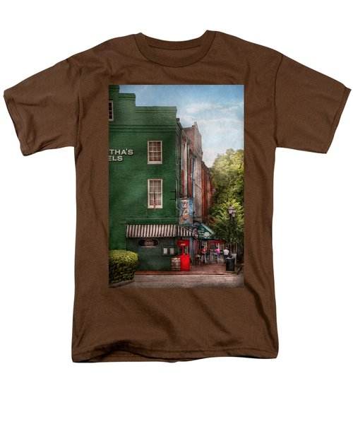 City - Baltimore - Fells Point MD - Bertha's and The Greene Turtle  T-Shirt by Mike Savad