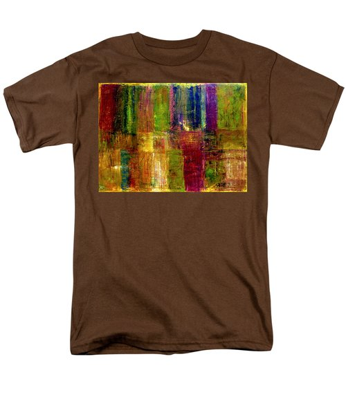 Color Panel Abstract T-Shirt by Michelle Calkins