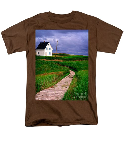 Cottage Among the Dunes T-Shirt by Edward Fielding