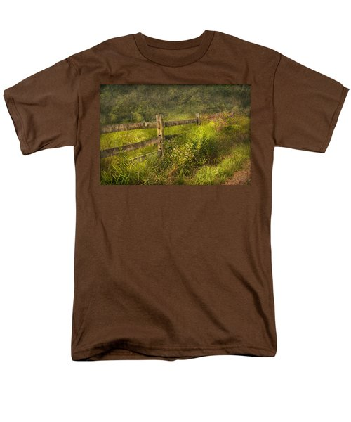 Country - Fence - County border  T-Shirt by Mike Savad