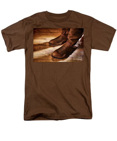 Cowboy Boots on Saloon Floor T-Shirt by Olivier Le Queinec