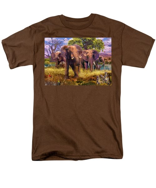 Elephants Men's T-Shirt  (Regular Fit) by Jan Patrik Krasny